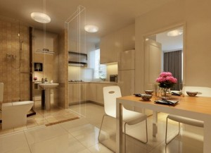 Interior-design-perspective-of-dining-room-kitchen-and-toilet